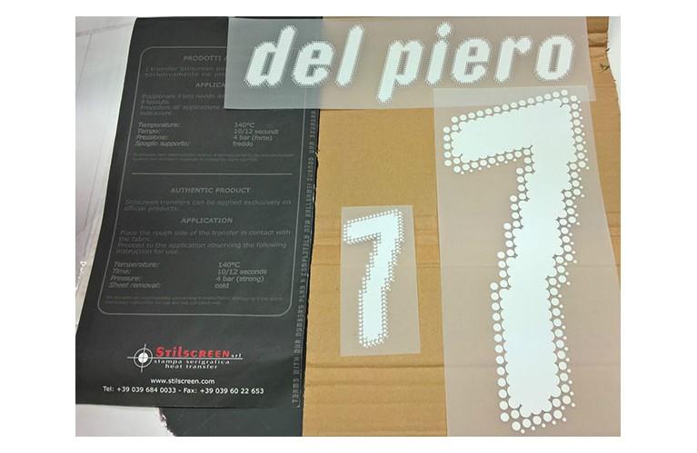 """PERSONALIZZAZIONE/PATCH """"DEL PIERO 7""""..."""
